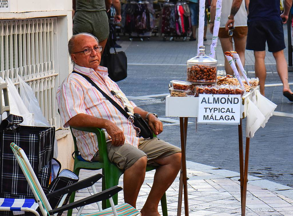 Almond seller, Nerja