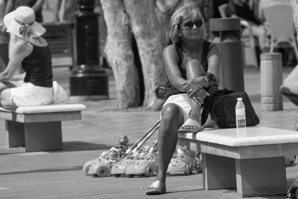 Nerja, black and white