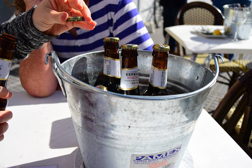 Bucket of beer, Sevillano, Nerja