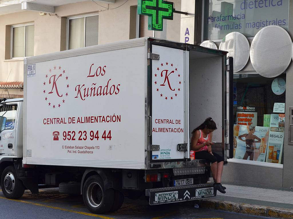 delivery lorry, Nerja
