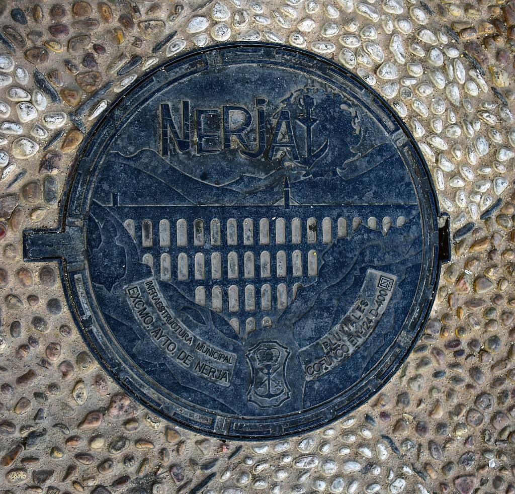 Nerja, personhole cover