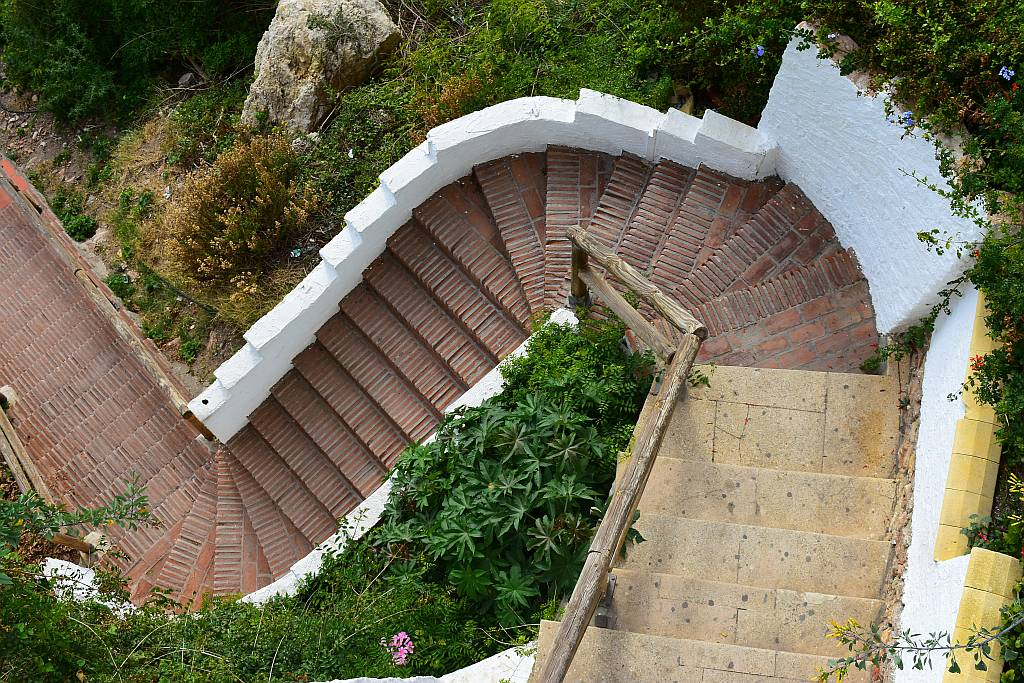 Steps to Carabeo beach, Nerja